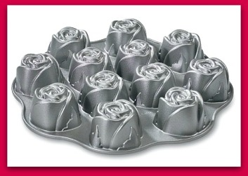 Nordic Ware 12 rose shaped muffin pan