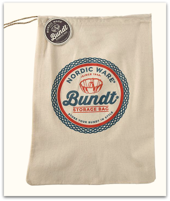 Nordic Ware Bundt Pan cloth storage bags with drawstring