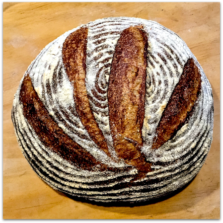 Loaf of traditional sourdough bread