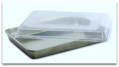 Nordic Ware High Sided Half Sheet pan with plastic cover