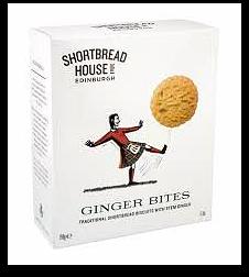 Scottish Shortbread Ginger Bites