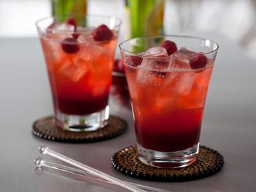 Two glasses of Raspberry flavored cocktails