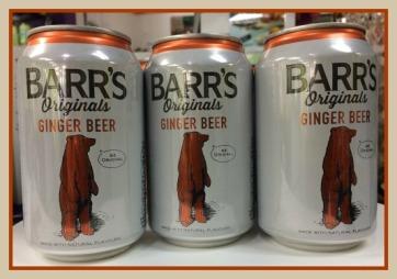 3 cans of Barr's Originals Ginger Beer
