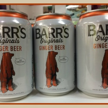 3 cans of Barr's Originals Ginger Beer