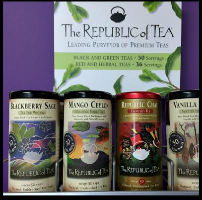 4 varieties of The Republic of Tea
