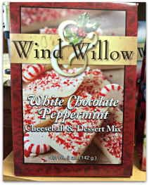 Wind & Willow white chocolate peppermint cheeseball & dessert mix