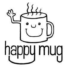 The Happy Mug Coffee logo: a mug with smiling face